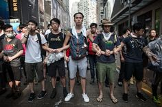 Hong Kong Pictures Show Rage Meeting Defiance As Ugly Clashes Break Out Over Pro-Democracy Protests
