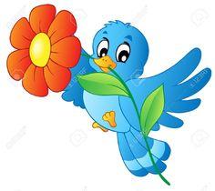 bird carrying flower - Google Search