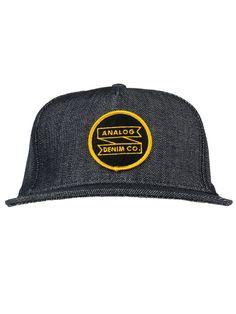 94769fc8 Analog Clothing ADC Snapback Hat - Indigo Raw Denim $25.00 #analog #adc