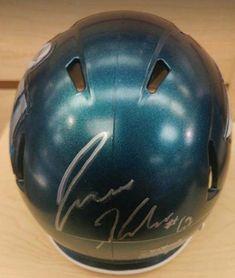 11994c38f98 Philadelphia Eagles Jason Kelce Autographed Super Bowl LII Champions NFL  Football Mini-Helmet