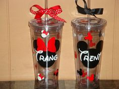 Childress Childress & Sims you and your fiancee need these. Mickey Mouse Classroom, Disney Classroom, Mickey Mouse Clubhouse, Mickey Minnie Mouse, Cute Cups, Fun Cup, Disney Vacation Surprise, Disney Water Bottle, Disney Cups