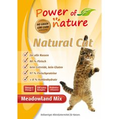 Power of Nature Natural Cat Meadowland mix - kurczak, indyk, łosoś
