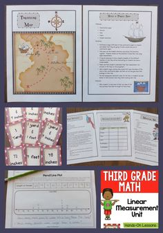 Measurement Unit-teach students to read a ruler to the fourth inch! Includes lesson plans, games, task cards, and more!