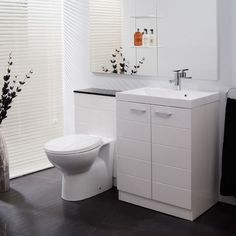 From full bathroom suites to small cloakroom suites we have something to suit all tastes & requirements. Cloakroom Suites, Bathroom Storage, Vanity Bathroom, Bathroom Furniture, Amazing Bathrooms, Powder Room, The Unit, Stylish, Bathroom Vanity Cabinets