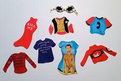Kathleen Hanna Iconic Outfits Stickers (feminist, feminism, riot grrrl, Bikini Kill, Le Tigre, The Julie Ruin, 1990s, grrrl power, punk) by OveritStudio on Etsy