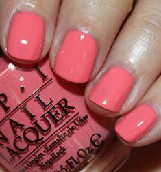 """OPI/coca cola color gel nail polish - """"I'm Fizzy Today"""" Opi Gel Nails, Opi Nail Polish Colors, Opi Colors, Best Gel Nail Polish, Polish Nails, Coral Nails, Pink Nail Art, Fabulous Nails, Perfect Nails"""