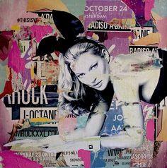 Kate Moss is playing bad bunny - Michiel Folkers - Kunstenaars