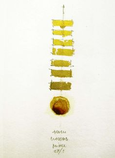 'Seeds & Stars #23' -by Luisa Sartori / ink, graphite, gold leaf on paper