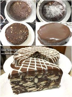 Kolay Çikolatalı Mozaik Pasta Tarifi