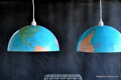 Globes into lamps. Cool. Wish I'd thought of this before I spent money on light fixtures.