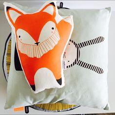 gingiber fox #gingiber #oyolivingdesign #pillows #kussens #cushions #kinderkamerdeco #kidsroomdecoration #nursery