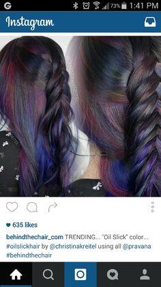 Oil Slick hair @Behindthechair @christinakreitel