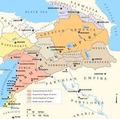 The Armenian Empire at it's peak - 66 BC