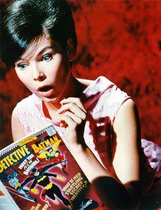 Yvonne Craig (Batgirl) readingDetective Comics#359 c. 1967
