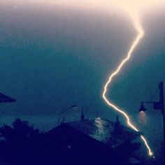 Lightning stroke in Cortina d'Ampezzo Airplane View, Lightning, Northern Lights, Meditation, In This Moment, Nature, Photography, Travel, Naturaleza