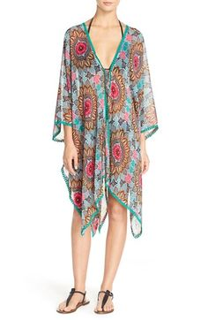 Red Carter 'Renaissance' Print Chiffon Kimono available at #Nordstrom