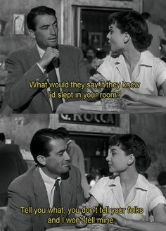 Gregory Peck and Audrey Hepburn in 'Roman Holiday', 1953.