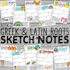Cover-01 Vocabulary Instruction, Vocabulary Games, Reading Activities, Classroom Activities, Roots Book, Latin Root Words, Grammar Posters, Doodle Pages, Prefixes