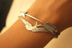 Silver+Arrow+and+Silver+Bird+par+iadornu+sur+Etsy,+$45,00