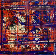 Gouden wereld, schilderij van Christian van Hedel   Abstract   Modern   Kunst