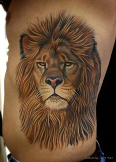 Brian's lion tattoo all healed up. By Dave Wah