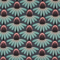 Free Spirit – Echinacea 1 - grijs - Katoenen stof bloemen - Decoratiestoffen bloemen - Patchwork - Stoffen - Anna Maria Horner - stoffen.net