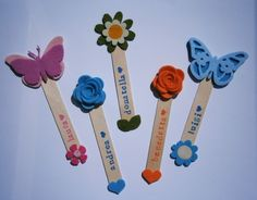 Popsicle Stick Crafts, Craft Stick Crafts, Diy And Crafts, Arts And Crafts, Paper Crafts, Valentine's Day Crafts For Kids, Mothers Day Crafts, Art For Kids, Butterfly Crafts