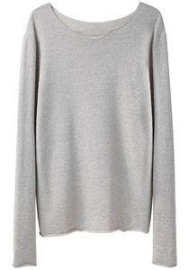 simple, minimal grey sweater