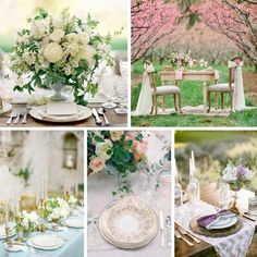 Snippets, Whispers and Ribbons – Stunning Spring Wedding Tablescapes