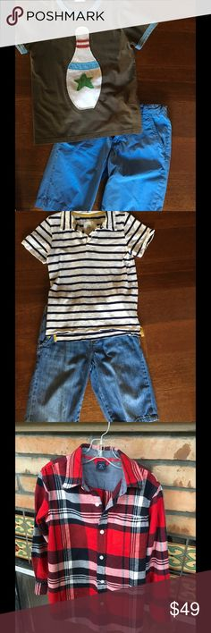 BOYS 10 PIECE FANCY PANTS BUNDLE BODEN CREW  GAP GREAT 10 PIECE LOT OF BOYS CLOTHING INCLUDES: MINI BODEN BOWL T (7-8) OLD NAVY BLUE SHORT, MINI BODEN NAUTICAL STRIPE (7-8)OLD NAVY JEAN CLAM DIGGERS M,GAP FLANNEL (6-7), J CREW HAWAIIAN FLORAL SWIM TRUNKS (8) AND OLD NAVY WHITE & NAVY SHORTS, SWEET FAUX WOOD FRAMED SUNGLASSES, GAP JEAN 10, GREEN CHECK SHIRT OLD NAVY.All IN GREAT TO GOOD PRELOVED CONDITION. Other