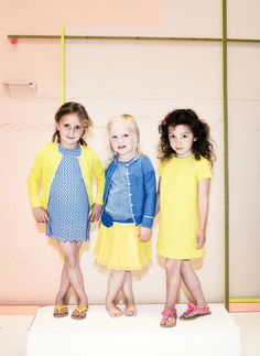 ss15: Le Big, at the Lynn Meyer New York Showroom, takes the preppy out of the traditional yellow and navy combination, by layering texture atop texture and adding feminine touches such as eyelet and tulle. www.lynnmeyerinc.com, www.lebig.com (editor's pick)