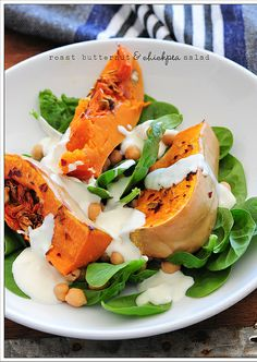 Roasted Butternut and Chickpea Salad.