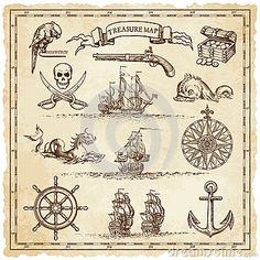 drawings free of pirate map - Αναζήτηση Google