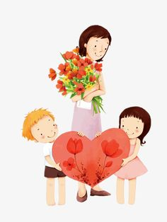 PNG and Clipart Family Drawing, Drawing For Kids, Mothers Day Decor, Happy Mothers Day, Mother Art, Mother And Child, Happy Teachers Day Card, Mothers Day Drawings, Mother Painting