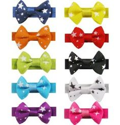 8 Luxury Baby Pet Dog Hair Clips Small Star Bows Knot Handmade - Random Colors -- To view further for this item, visit the image link. (This is an affiliate link and I receive a commission for the sales) Super Cute Dogs, Dog Hair Bows, Toddler Hair Clips, Dog Itching, Dog Training Pads, Dog Dental Care, Dog Shower, Dog Diapers, Making Hair Bows
