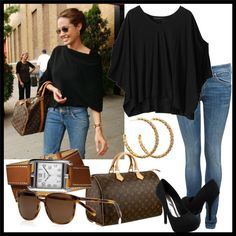-basic casual errands and ish idea+outline outfit- jus not heels mostly and DONT need or want a louie viton real or fake purse