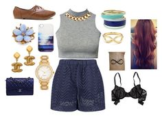 """""""High School Years"""" by dopeness12345 ❤ liked on Polyvore featuring Victoria Beckham, Club L, Forever New, Lipsy, Club Manhattan, Kate Spade, Aerie, AERIN and Chanel"""