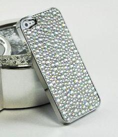 Amazon.com: LiViTech(TM) Diamond Stone Design Series Rhinestone Crystal Chrome Bling Case for Apple iPhone 5 (AT,VERIZON,SPRINT) (Silver): Cell Phones & Accessories