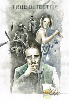 True Detective Season 2 Illustration Collage by Andi Papelitzky (Facebook.com/andipdesign)