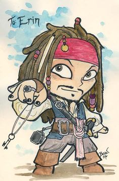Inspiration for pirate costume for Jonah.  Captain Jack Sparrow.