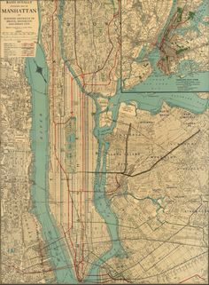 Map of the New York Subway in 1924