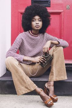 fashion african american Were Obsessed With Th - Style Work, Mode Style, 70's Style, Afro Style, Swag Style, Looks Street Style, Looks Style, Look Fashion, Fashion Beauty