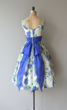 Vestido de azul del Delta vestido vintage de los por DearGolden