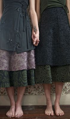 layered skirts!