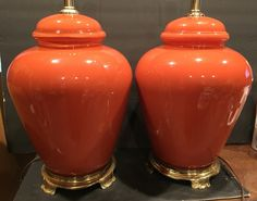 A personal favorite from my Etsy shop https://www.etsy.com/listing/279534524/reverse-painted-pair-of-lamps-glass