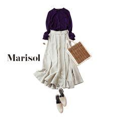 今季も大活躍のロングカーデ選びは緑で!秋のトリコロールが完成!Marisol ONLINE|女っぷり上々!40代をもっとキレイに。