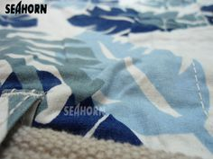SEAHORN Printed Beach Shorts / Bermudas Size: 34 Inches with free belt, Length: 22 Inches, Color: White-Bluish Hawaiian Flora, Number of Pockets:6, Fabric: Cotton, Front Zip: Yes - Buttoned Zip