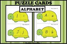 These alphabet matching cards help students consolidate their understanding of capital and lowercase alphabet letter relationships. Includes – 26 turtle themed alphabet cards (one for each letter).