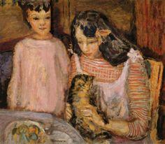 Children and Cat, Pierre Bonnard
