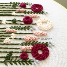 Beginner Hand Embroidery Kit - Wildwood in Pink – And Other Adventures Embroidery Co Hand Embroidery Patterns Flowers, Hand Embroidery Videos, Embroidery Stitches Tutorial, Embroidery Flowers Pattern, Flower Embroidery Designs, Creative Embroidery, Simple Embroidery, Hand Work Embroidery, Embroidery Kits